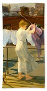Sun And Wind On The Roof Bath Towel