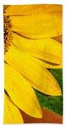 Sun-kissed Sunflower Bath Towel