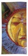 Sun Mask Bath Towel
