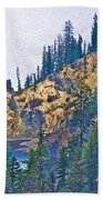 Sun Notch On A Rainy Day At Crater Lake National Park-oregon Bath Towel