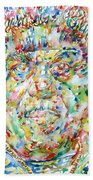 Sun Ra Watercolor Portrait Bath Towel