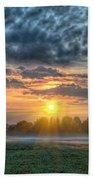 Sun Rays Vs Rain Clouds Bath Towel