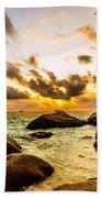 Sun Sand Sea And Rocks Bath Towel