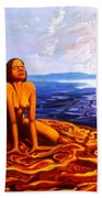 Sun Woman Hand Towel