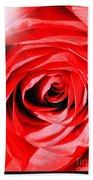 Sunburst On Red Rose With Framing Bath Towel