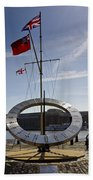 Sundial St Katherines Dock Bath Towel