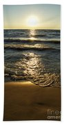 Sundown On The Beach Bath Towel