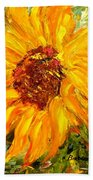 Sunflower Hand Towel by Barbara Pirkle