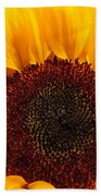Sunflower Closeup Bath Towel