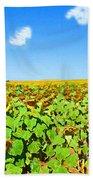 Sunflower Fields Forever Bath Towel