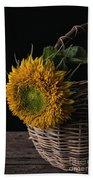 Sunflower In A Basket Hand Towel