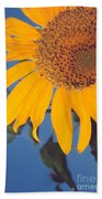 Sunflower In The Corner Bath Towel