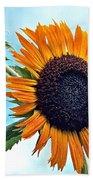 Sunflower In The Sky Bath Sheet by Annette Allman