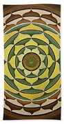 Sunflower Mandala Bath Towel