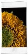 Sunflower Original Signed Mini Bath Towel