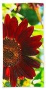 Sunflower - Red Blazer - Luther Fine  Art Bath Towel