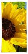 Sunflower Summer Garden Art Prints Bath Towel