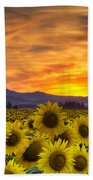 Sunflower Sunset Bath Towel