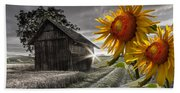 Sunflower Watch Bath Towel