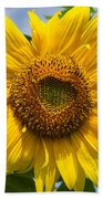 Sunflower With Butterfly Bath Towel