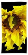 Sunflower With Curlicues Effect Bath Towel