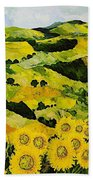Sunflowers And Sunshine Bath Towel