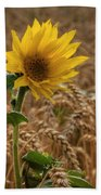 Sunflowers At Corny Bath Towel