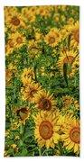 Sunflowers Helianthus Annuus Growing Bath Towel