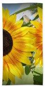 Sunflowers In Full Bloom Bath Towel