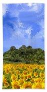 Sunflowers In Tuscany Bath Towel