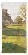 Sunlit Day  A Small Village Hand Towel