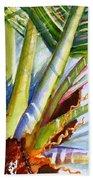 Sunlit Palm Fronds Bath Towel