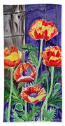 Sunlit Poppies Bath Towel