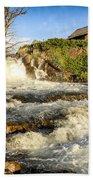 Sunlit Rapids In Glacier Bath Towel