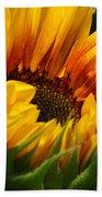 Sunny Sunflower Bath Towel