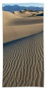 Sunrise At Mesquite Flat Sand Dunes Bath Towel