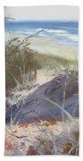 Sunrise Beach Dunes Sunshine Coast Qld Australia Hand Towel
