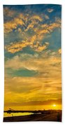 Sunrise In Manaure Colombia Bath Towel