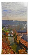 Sunrise In Old Town Bath Towel