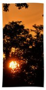 Sunrise In The Forest Bath Towel
