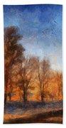 Sunrise On A Rural Country Road Photo Art 02 Bath Towel