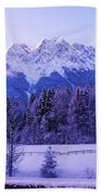 Sunrise On Snowy Mountain Bath Towel