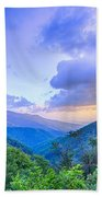Sunrise Over Blue Ridge Mountains Scenic Overlook  Bath Towel