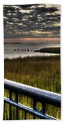 Sunrise Over The Cooper River Bath Towel