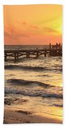 Sunrise Pier Bath Towel