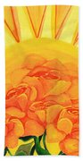 Sunrise Roses Bath Towel