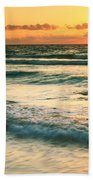Sunrise Seascape Tulum Mexico Bath Towel