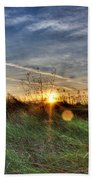 Sunrise Through Grass Hand Towel