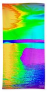 Sunset Abstract Bath Towel