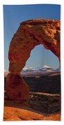 Sunset At Delicate Arch Bath Towel